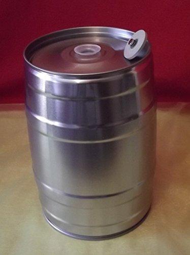 Nahrungsmittel-selbermachen 5 Liter Bierfass inkl. Ventilstopfen, Partyfass ohne Aufdruck für Ihr Selbstgebrautes