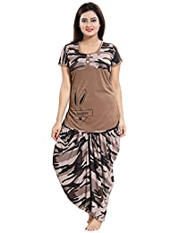 1b7945523f9d8 TUCUTE Top and Dhoti Style Bottom Night Suit/Nighty/Nightdress/Night Gown  for