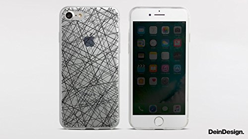 Apple iPhone 8 Plus Slim Case Silikon Hülle Schutzhülle Sprüche Statement Grau Silikon Slim Case transparent
