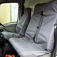 FOR IVECO DAILY CUSTOM DELUXE OHIO BLACK-GREY FABRIC VAN SEAT COVERS 2+1