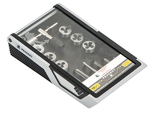 Preisvergleich Produktbild Peugeot 982006-Set 13-teilig Gewindebohrer/Gewindelehre mit Schlüssel Gebrauch Strom, grau, 13-teiliges Set