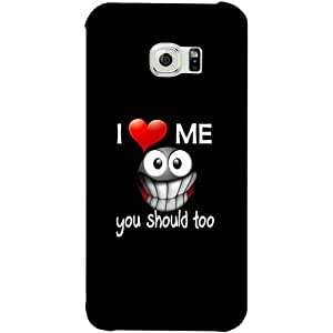Casotec Quotes Design Hard Back Case Cover for Samsung Galaxy S6