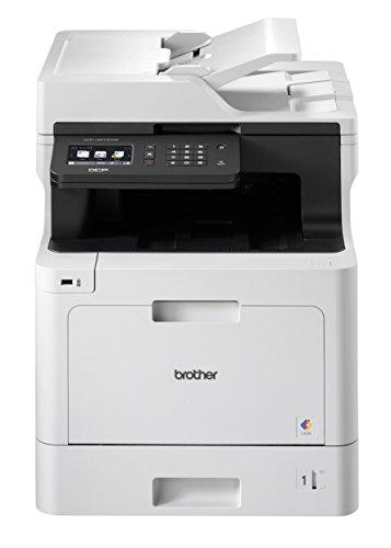 Brother DCP-L8410CDW Professionelles 3-in-1 Farblaser-Multifunktionsgerät (Drucker, Scanner, Kopierer) weiß/schwarz