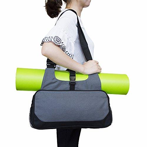 Erasky Yogatasche Yoga Matte Tasche Rucksack Yogamattentasche für Hot Yoga, Pilates, Fitnessstudio,Sporttasche (Grau)