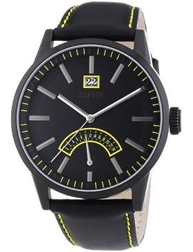 Esprit Herren-Armbanduhr XL Moody Analog Quarz Leder ES103651005