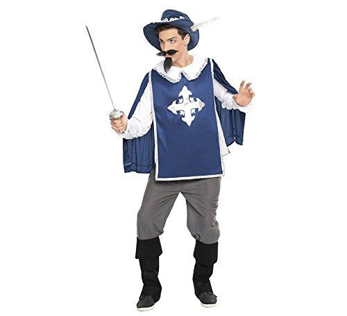 Imagen de disfraz de mosquetero azul para hombre