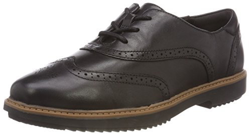 Clarks Raisie Hilde Womens Wide Fit Brogues 4 Quinquies (m) UK/37 EU Nero