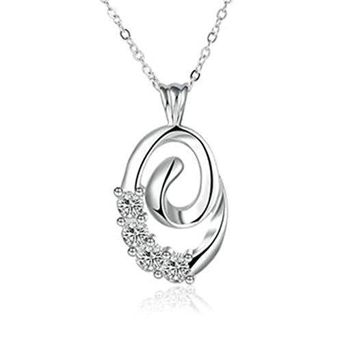 amdxd Jewelry Anhänger vergoldet Ketten für Damen Silber Spirale rund Anhänger (Licht-kit Vier Deckenventilator)
