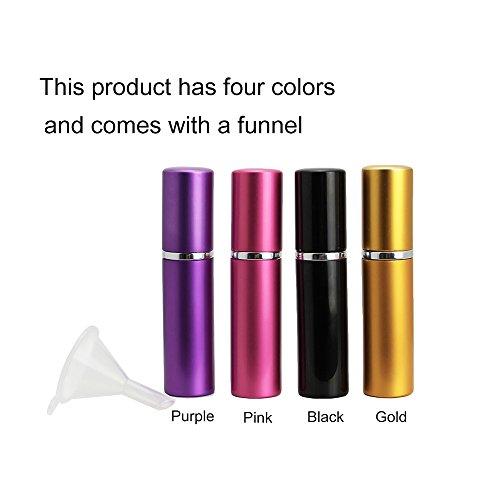 HTINAC 4 Pcs Atomizador de Perfume, Portátil Botella De Perfume Viaje Fácil de Llenar,Botella Rellenable Herramientas Cosméticas para Cualquier Ocasión(5ML)