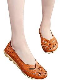 2b576e5e Fannyfuny Sandalias Sandalias Mujer Verano Romanas De Punta Plana Gran  Tamaño Zapato de agujero Sandalias De