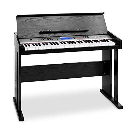 Schubert Carnegy-61 - piano eléctrico , teclado , 61 teclas , sensibilidad a la rapidez , 100 ritmos , 136 instrumentos , 8 pistas demo , altavoces , salida de línea , MIDI , función dual , negro