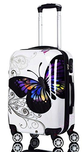 Cabin Suitcase 55 cm - Coque dure ABS Super Léger Avec...