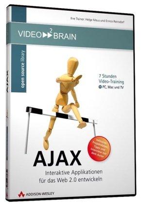AJAX - Die Programmierung hochinteraktiver Webanwendungen am eigenen Bildschirm lernen wie im Kurs - 7 Stunden Videotraining - für PC, Mac und TV!: (AW Videotraining Grafik/Fotografie) Buch-Cover