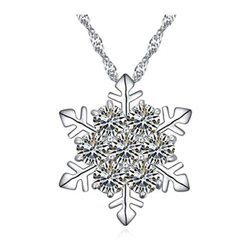 Liquidazione offerte, Fittingran Nuovo Fiocco di Neve di Stile ha Modellato Il Regalo di Natale di Anniversario dei Pendenti della Collana di Cristallo (D)