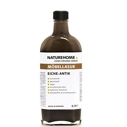 NATUREHOME Möbellasur Eiche-Antik 250 ml Holzlasur Holzpflege Bio Öl Antik-möbel