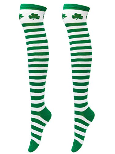 Elcoho Damen Kniestrümpfe 33 Gr. 33, St Patrick's Day Over Knee Thigh Stockings