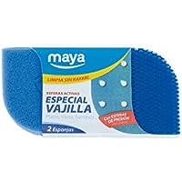 Maya 07114 - Esponja Evo Especial Vajilla, Limpia sin Rayar ni Dejar Restos de Fibras, 2 Unidades