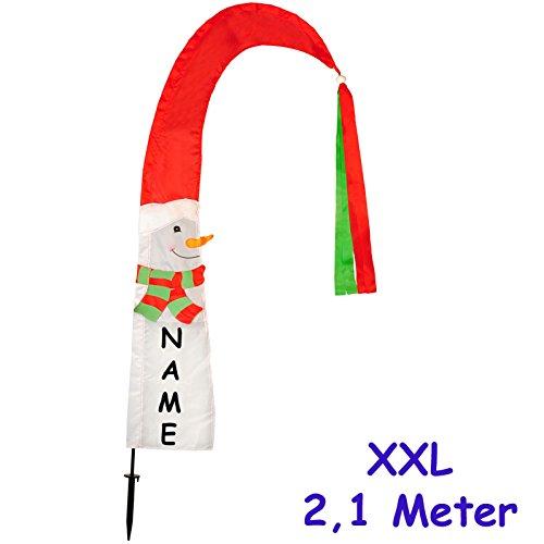 alles-meine.de GmbH 3 Stück _ Große XL - 2,1 m ! - Windfahnen / Balifahnen -  Weihnachten / Schne..