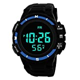 Gaddrt Luxus Herren Handgelenk Digital Armbanduhr Analog Militär Armee LED Wasserdichte Sport-Armbanduhr, Blue 3