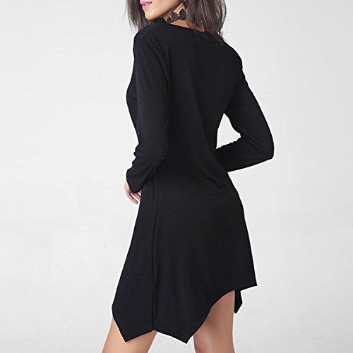 Estate Abbigliamento Femminile Il Temperamento La Moda Colore Solido Rosso Nero Verde Vestito Black