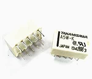 1PCS Relais Takamisawa A5W-K DIP-10 Relay 2x UM 5V Audio Signal
