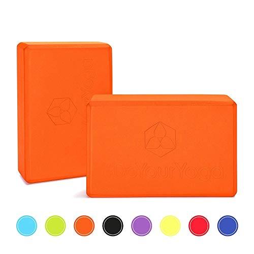 #DoYourYoga Yogablock , Yogaklotz - sehr leichter Hartschaum Yoga-Block zur Unterstützung spezieller Yoga-Übungen & Asanas - ca. 23x15x7,5cm , 170g : »Aruna« orange