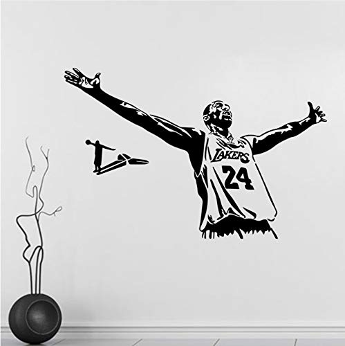 Abnehmbare Dekorative Aufkleber Athlet Kobe Basketball 24. Schlafzimmer Wandaufkleber 42Cm * 62Cm -