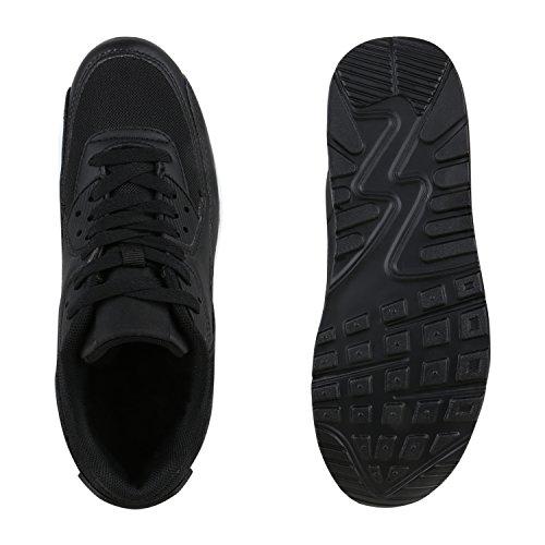 Damen Herren Unisex Laufschuhe Profil Sohle Sportschuhe Fitness Schuhe Schwarz Weiss