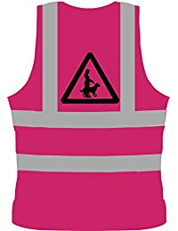 Dog Walkers High Visibility Vest in Pink - Be Safe and Seen Walking Your Dog!