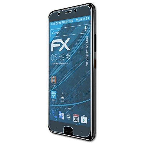 atFolix Schutzfolie kompatibel mit Allview X4 Soul Folie, ultraklare FX Bildschirmschutzfolie (3X)