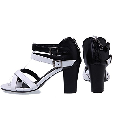 Coolcept Femmes Ete Bride Cheville Sandales white