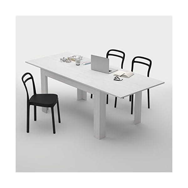 Mobili Fiver, Tavolo Cucina Allungabile fino a 220 cm Easy, Bianco ...