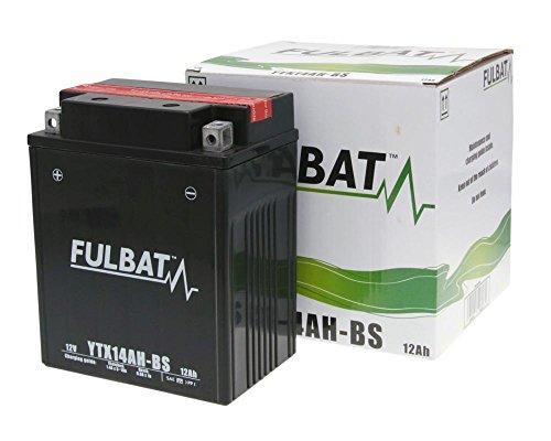 Batterie FULBAT YTX14AH-BS MF wartungsfrei für ARTIC CAT Jag ZBaujahr 94[ inkl.7.50 EUR Batteriepfand ] -