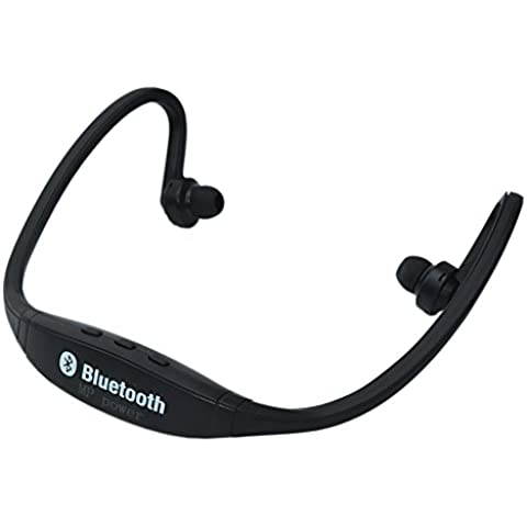 MP power @ Bluetooth Inalambrico Auriculares deportivos para Correr compatible con Smartphone Iphone 6 Plus 6s Plus 6 6S 5 5S 4 4S 3G 3GS Samsung Galaxy S6 S6 Edge Edge+ S5 S4 S4 Active S4 Mini S3 S3 Mini S2 Note 4 Ipod Touch 3 4 5 HTC ONE X ONE S Z520E LG G2 G3 G4 Nexus 4 Nexus 6 P760 Nokia Lumia 920 820 Sony Z1 Z2 Z3 C4 C5 M4 M5 Huawei P8 Mate S Ipad Mini 1 2 3 4 Ipad Air Ipad Pro