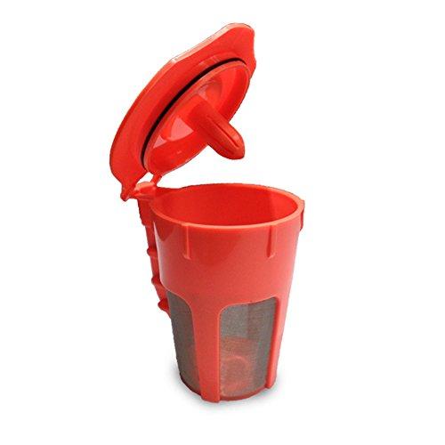 K-Cups Karaffe Wiederverwendbare Kaffeefilter, Ersatz nachfüllbar K Cup für 2.0 Brauer, K300 K400 Serie Brauen, Kapazität 80 ml mit BPA-freiem Kunststoff Free Size Orange (K-cups Karaffe)