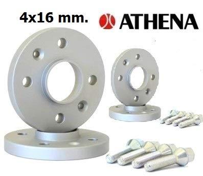 ATHENA.. Kit 4 DISTANZIALI Ruote 16 MM. X3 Type F25 da Novembre 2010 al 2017 con BULLONI in Acciaio