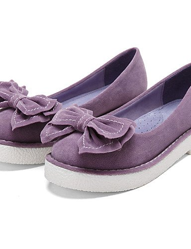 ZQ Scarpe Donna - Mocassini - Formale / Casual - Comoda / Punta arrotondata / Chiusa - Plateau - Scamosciato -Blu / Giallo / Rosa / Viola / , purple-us8.5 / eu39 / uk6.5 / cn40 , purple-us8.5 / eu39 / blue-us6 / eu36 / uk4 / cn36