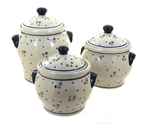 Polish Pottery Country Meadow Canister Set
