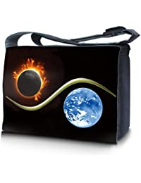 Luxburg® design sacoche sac de messager à bandoulière pour ordinateur portable Notebook 10,2 pouces / 12,1 pouces / 13,3 pouces / 14,2 pouces / 15,6 pouces / 17,3 pouces