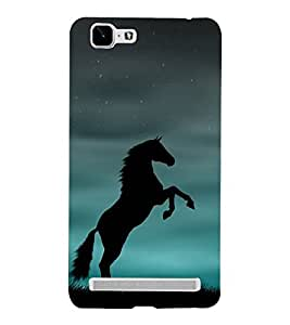 Shadow Jumping Horse 3D Hard Polycarbonate Designer Back Case Cover for VIVO X5 MAX