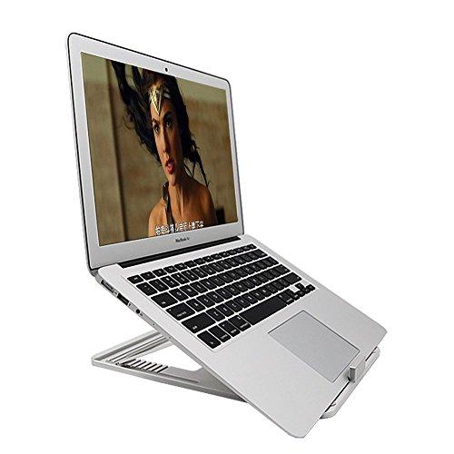 Laptop-Ständer Faltbarer Notebook-Halter 10 Winkel Einstellbare MacBook Stand für Display-Halterung für MacBook Pro, MacBook Air, iPad Tablet und 11-17 Zoll Notebooks, Silber