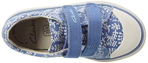 Clarks Brill Ice, Sneakers Fille Bleu (Blue Combi)