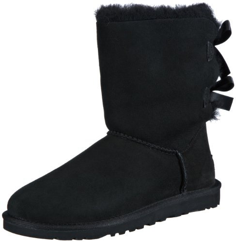 UGG Damen W Bailey Bow Schlupfstiefel, Schwarz (Black), 36 EU - Bailey Button Black Boot