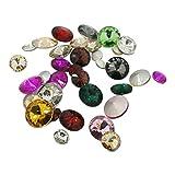 ARRICRAFT 200 piezas de cono facetado de cristal con parte trasera de estrás, varios colores, para bricolaje