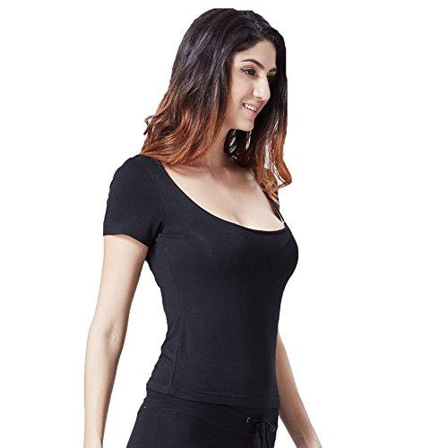 Greatrees - T-shirt - Manches Courtes - Femme Taille Unique Noir - Noir