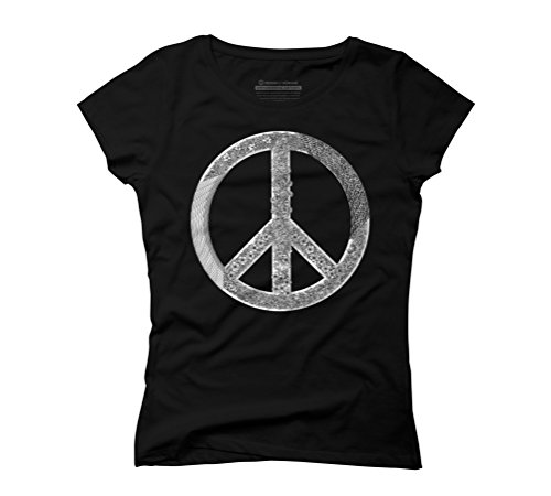 Generative Peace Tee Women's Graphic T-Shirt - Design By Humans Black