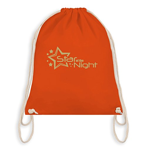 JGA Junggesellenabschied - Star of the Night - Turnbeutel I Gym Bag Orange
