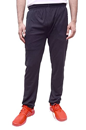Neva Men's Sweat Free P-Knit Fabric Lower_Track Pant_Zipper Sports Lower_L90-95_Black  available at amazon for Rs.799