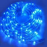 Ex-Pro® 20m Neon Blue Coloured Colour Rope Light Christmas / Party / Wedding Decoration, Indoor or Outdoor. With 8 Mode Sequence Controller unit.