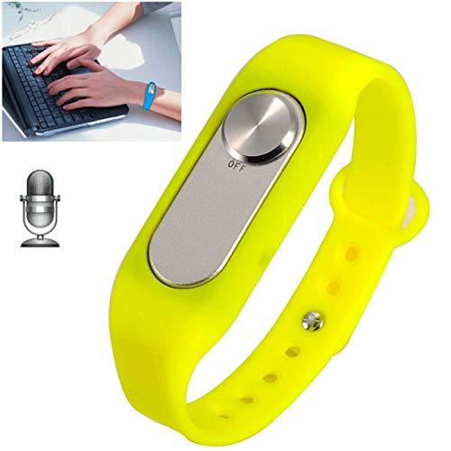 Allshopstock (#117) Tragbare Armband 16GB Digital Voice Recorder Handgelenk Watch, eine Knopf- Lang Time Recording (Gelb) (Handgelenk Voice Recorder)